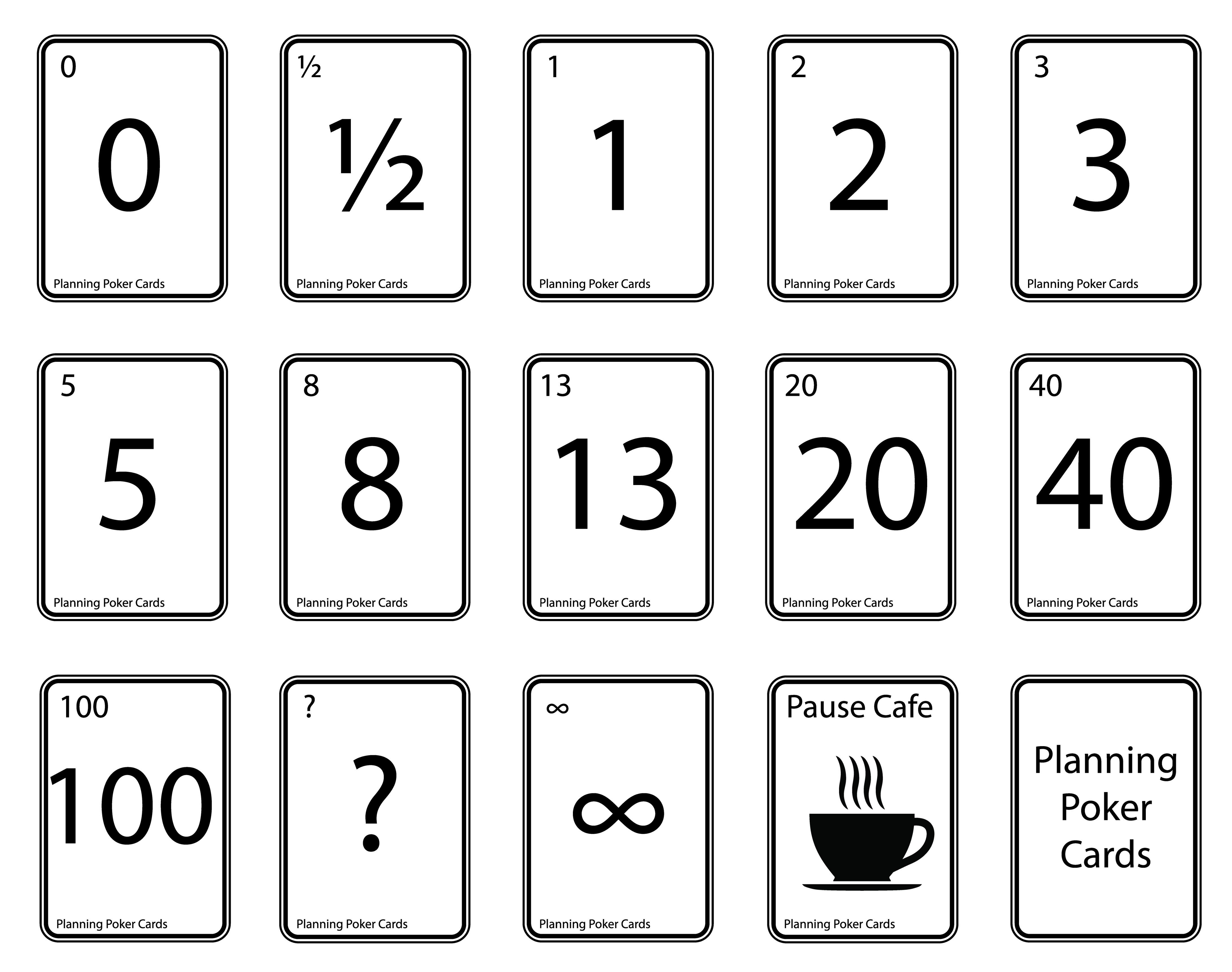 Cartes Poker Planning