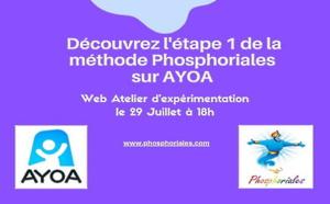 Découvrez Phosphoriales associé avec Ayoa dans un atelier Brise Glace Jeudi 29 Juillet 18h